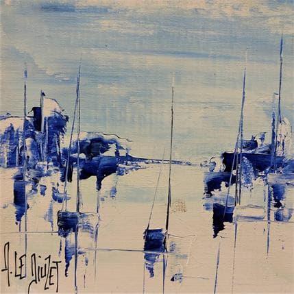 Albert Le Diuzet Compo marine bleue 32 13 x 13 cm