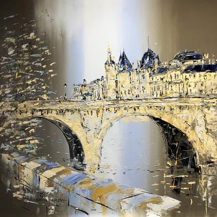 Patrick Rousseau Un pont à mille temps 100 x 100 cm