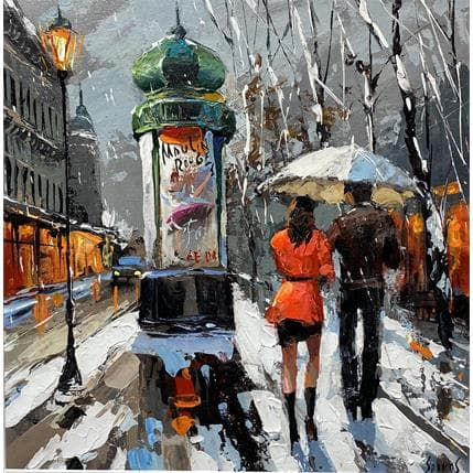 Dmitry Spiros By winter boulevard 36 x 36 cm