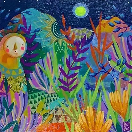 BuiBui Voyageur au clair de lune 13 x 13 cm