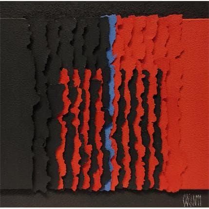 Gérard Clisson NOIR+ROUGE+NOIR 19 x 19 cm