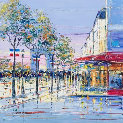 Liisa Corbière Apéro aux Champs Elysées 80 x 80 cm
