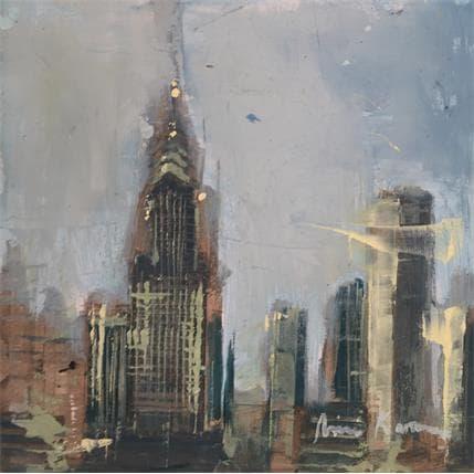 Amine Karoun NYC skyline 13 x 13 cm