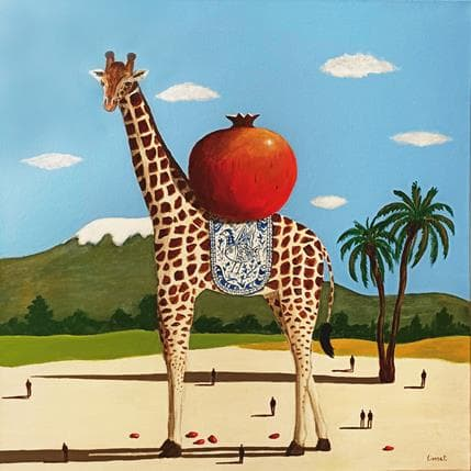 Pascal Lionnet Girafe 50 x 50 cm