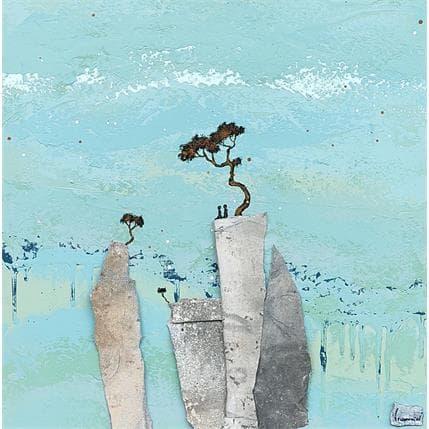 François-Régis Lemonnier 2488 A deux au sommet 50 x 50 cm