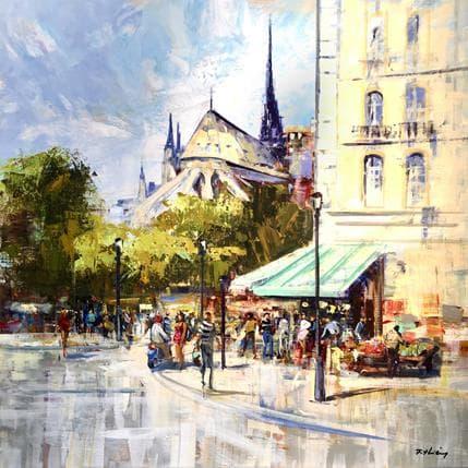 Frédéric Thiéry La boutique à Notre-Dame 80 x 80 cm