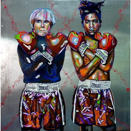 Medeya Lemdiya Basquiat Warhol 100 x 100 cm