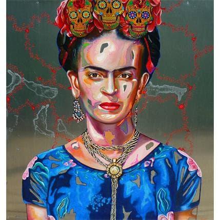 Medeya Lemdiya Frida aux 3 têtes 100 x 100 cm