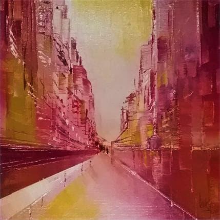 Levesque Emmanuelle La rue au petit matin 19 x 19 cm