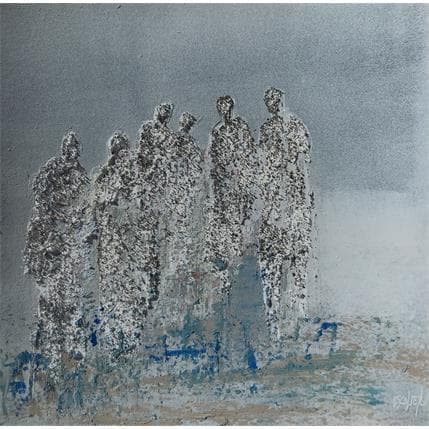 Odile Escolier DEVANT LES ETOILES 25 x 25 cm