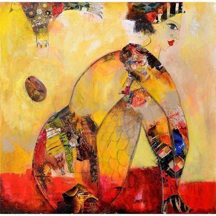 Valérie Depadova Sauvage comme l'oiseau 80 x 80 cm