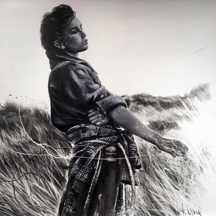 Cécile Desserle Face à la mer 120 x 120 cm