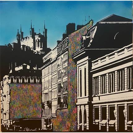 FRANCKY Une rue de Lyon 80 x 80 cm