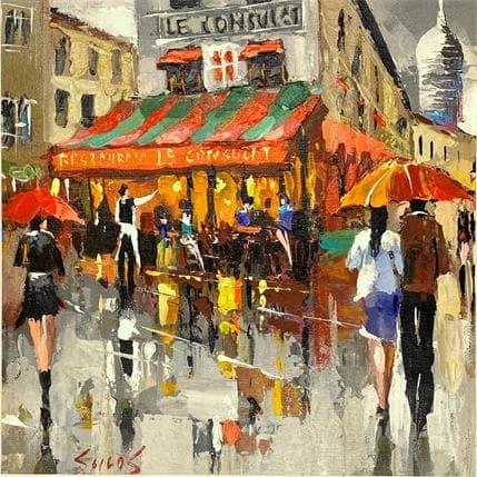 Dmitry Spiros Rainy Paris 25 x 25 cm