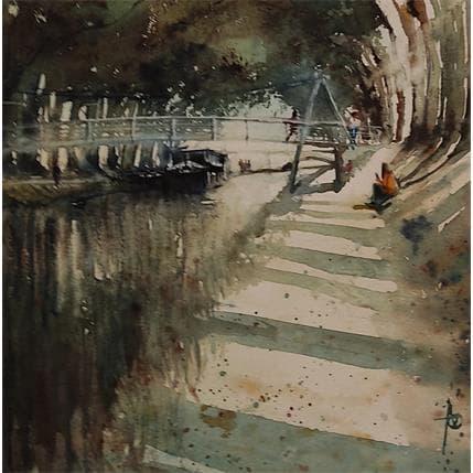 Violaine Abbatucci ELLE LE RETROUVERAIT A LA PASSERELLE 25 x 25 cm