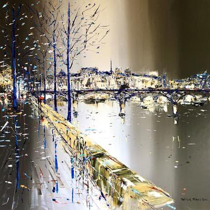 Patrick Rousseau Et la Seine qui se promène 100 x 100 cm