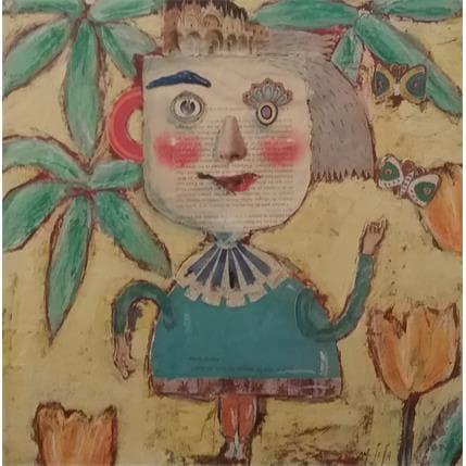 Miguel De Sousa Les jolis papillons 36 x 36 cm