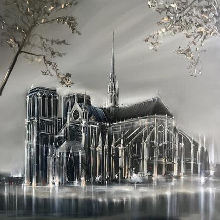 Jérôme Guillet Notre Dame 80 x 80 cm