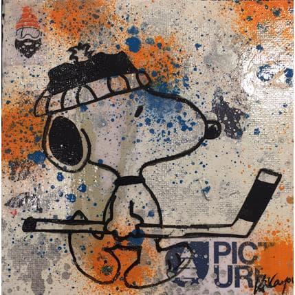 Kikayou Snoopy hockey 13 x 13 cm