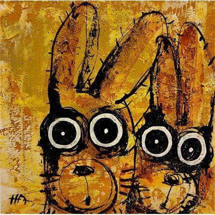 Hervé Maury Deux lapins 19 x 19 cm