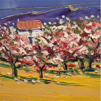 Liisa Corbière Cabanon aux amendiers en fleur 19 x 19 cm