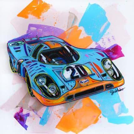 SHOKKOBO STEVE McQUEEN'S CAR 80 x 80 cm