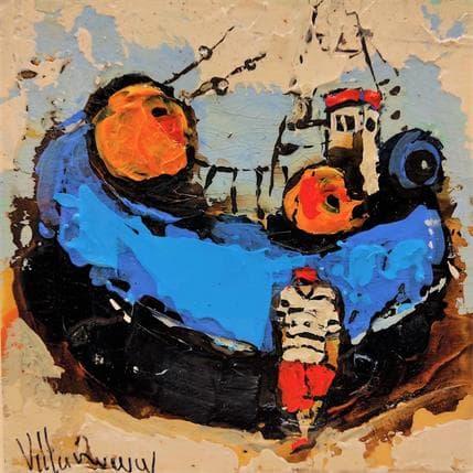 Natalia Villanueva barco azul 13 x 13 cm