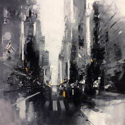 Daniel Castan Blanck White passage piétons 80 x 80 cm
