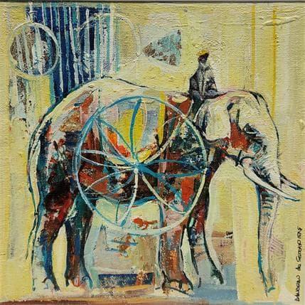 De Secondigné Mon éléphant 19 x 19 cm