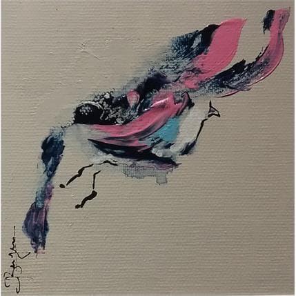 Laurent Bergues Piou en vol bleu 13 x 13 cm