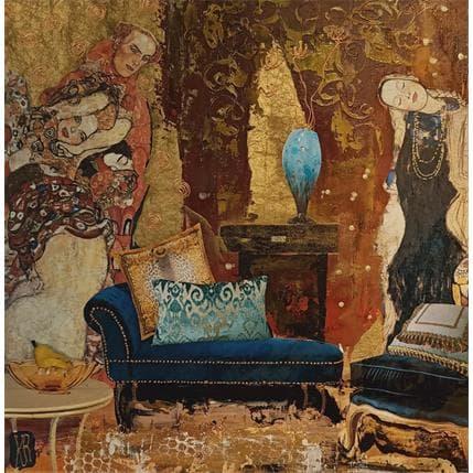Karine Romanelli Blue shaker 36 x 36 cm