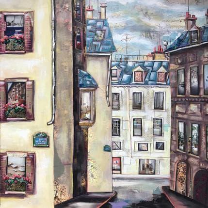 Aud C Rue de la Ville l'Evêque 80 x 80 cm
