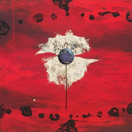 Thierry Boitier Red pulse 100 x 100 cm