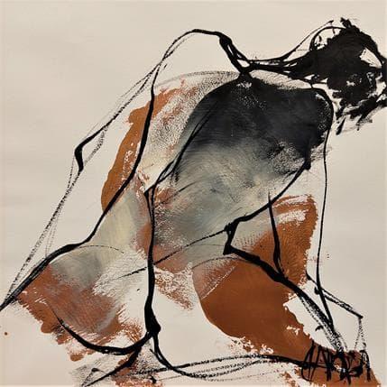 Martine Chaperon Bronze cuivré 36 x 36 cm