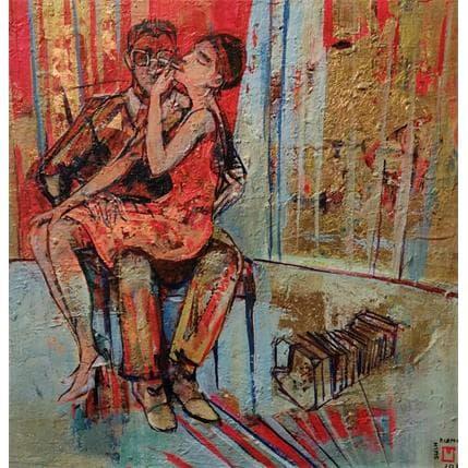 De Secondigné Les amoureux 36 x 36 cm