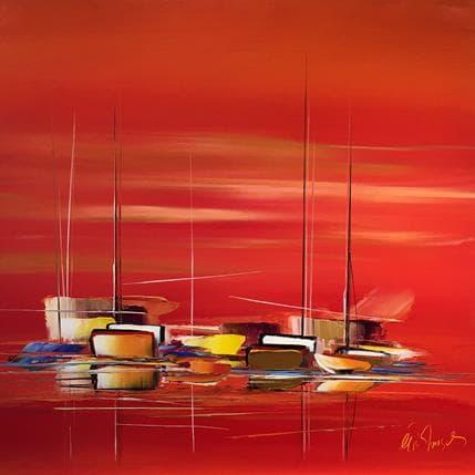 Eric Munsch Voyage rouge 100 x 100 cm
