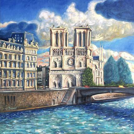 P.Bonart Notre-Dame après la pluie 100 x 100 cm