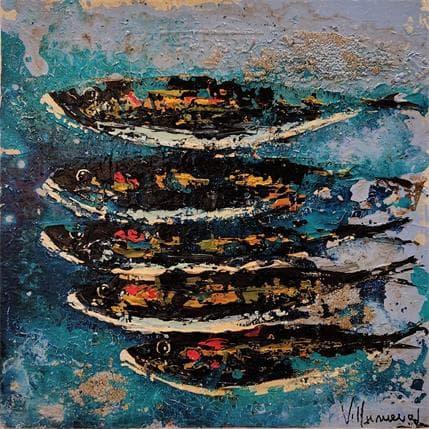 Natalia Villanueva cinco peces un solo oceano 36 x 36 cm