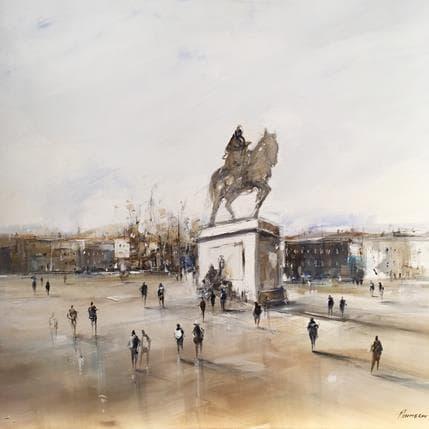 Richard Poumelin Sans Titre ( Bellecour) 80 x 80 cm