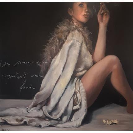 Cécile Desserle Les maux qui partent en fumée 100 x 100 cm