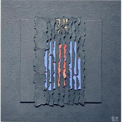 Gérard Clisson Deux éclairs dans la nuit 36 x 36 cm