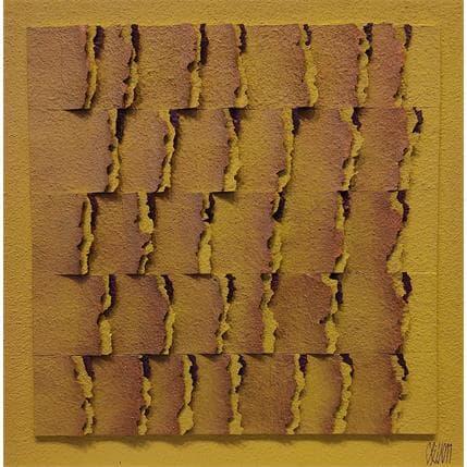Gérard Clisson SOLEIL CUIVRE 36 x 36 cm
