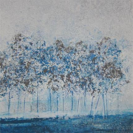 Odile Escolier LISIERE BLEUE 13 x 13 cm