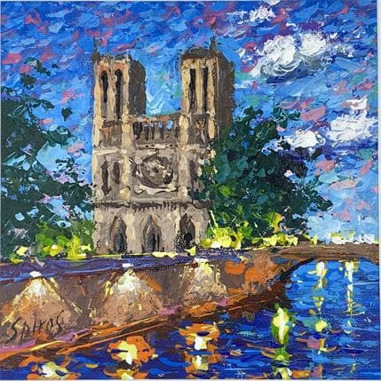 Dmitry Spiros Notre Dame reflection of lights 19 x 19 cm