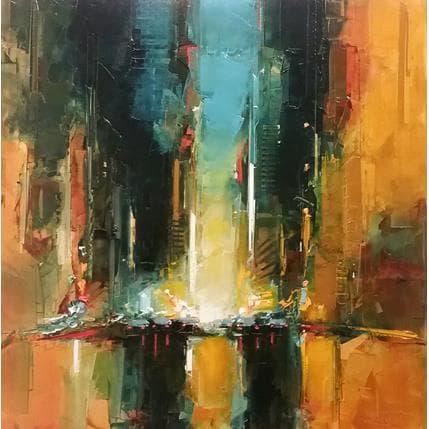 Castan Daniel Crépuscule NYC 80 x 80 cm