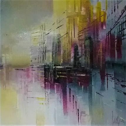 Emmanuelle Levesque L'immeuble jaune 19 x 19 cm