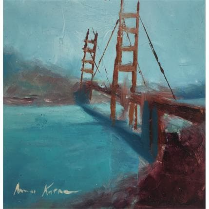 Amine Karoun Golden bridge 13 x 13 cm