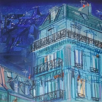 Olivier Anicet Avant la nuit 36 x 36 cm