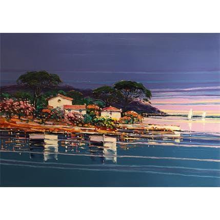 Liisa Corbière Reflets de printemps Cap d'Antibes 74 x 100 cm