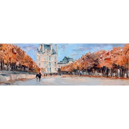 Olga NOVOKHATSKA Jardin des Tuileries en automne 120 x 40 cm